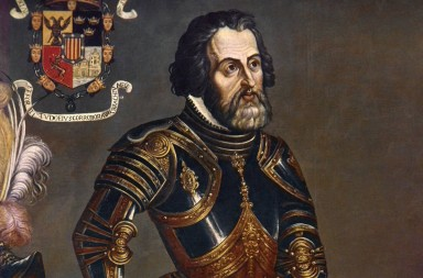 HERNANDO CORTES (1485-1547).  Spanish conqueror of Mexico. Oil painting by an unknown 16th century artist.