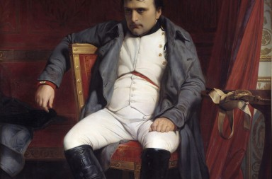 Portrait of Napoleon I after his farewell at Fontainebleau, 1814 by Paul Delaroche