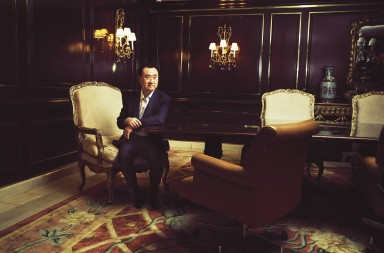 Wang Jianlin, chairman of the Dalian Wanda Group, in Los Angeles, Oct. 16, 2016. Wang said the company's goal was to help American companies get more market share from movies in China. ©Christopher Patey / The New York Times / Contacto
